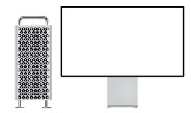 New Mac Pro with Retina 6K display stock illustration