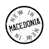 New In Macedonia rubber stamp Stock Photo