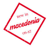 New In Macedonia rubber stamp Stock Photography