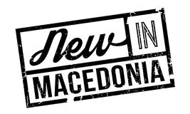 New In Macedonia rubber stamp Royalty Free Stock Image