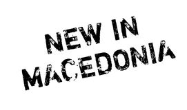 New In Macedonia rubber stamp Royalty Free Stock Images