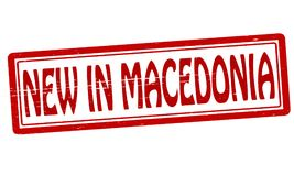 New in Macedonia. Stamp with text new in Macedonia inside,  illustration Stock Photo