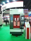 New machines in Asiean metallex 2014 ,thailand Royalty Free Stock Image