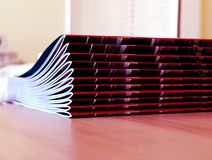 New magazines pile Royalty Free Stock Photo