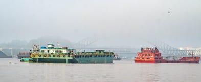 New Mahakam Bridge from distance royalty free stock image