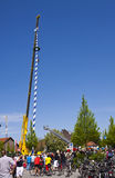 New Maibaum in Garching Royalty Free Stock Images