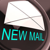 New Mail Envelope Means Unread Email Or Message Stock Photo