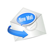 New mail envelope sign illustration design Royalty Free Stock Photo