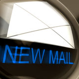 New Mail Postage Means Unread Email Or Message Stock Image