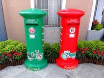 New Mailboxes on Display Royalty Free Stock Photo