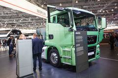 New MAN electric city truck stock images