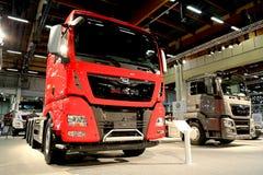 New MAN Euro 6 Trucks on Display Stock Photos
