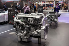 New MAN truck diesel engines Royalty Free Stock Photography
