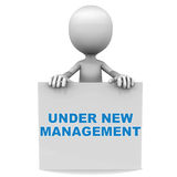 New management. Under new management banner text, concept of change of leadership for an organization Royalty Free Stock Photography
