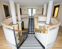 New mansion with staircase indoors Royalty Free Stock Image