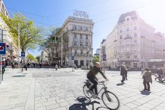 New Mariahilfer Strasse Vienna royalty free stock photography