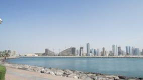 New Marina area in Dubai on the shore of the bay. stock photography