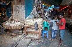 New Market, meat section, Kolkata, India Royalty Free Stock Photography