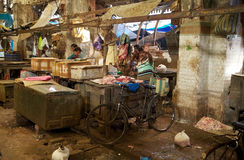 New Market, meat section, Kolkata, India Royalty Free Stock Photo