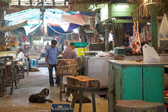 New Market, meat section, Kolkata, India Stock Image