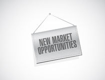 New market opportunities banner sign concept Royalty Free Stock Image