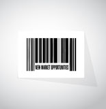 New market opportunities barcode sign concept Stock Images