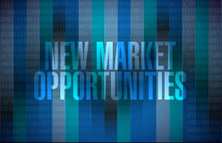 New market opportunities binary sign concept. Illustration design graphic royalty free illustration