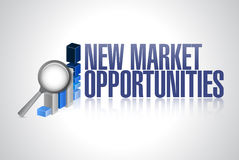 New market opportunities business graph sign Royalty Free Stock Images