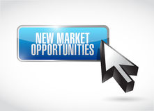 New market opportunities button sign concept Royalty Free Stock Image