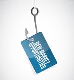 New market opportunities hook sign concept Royalty Free Stock Photo