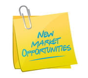New market opportunities memo sign concept Stock Photos