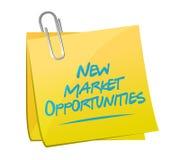 New market opportunities memo sign concept Stock Photos