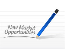 New market opportunities message sign concept. Illustration design graphic Royalty Free Stock Images