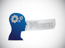 New market opportunities mind sign concept Royalty Free Stock Image