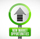New market opportunities road sign concept Stock Photos