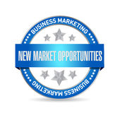 New market opportunities seal sign concept Royalty Free Stock Photo