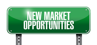 New market opportunities street sign concept. Illustration design graphic Royalty Free Stock Photos