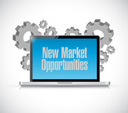 New market opportunities tech computer sign Royalty Free Stock Images