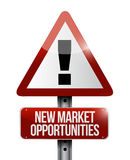 New market opportunities warning sign concept Stock Photography