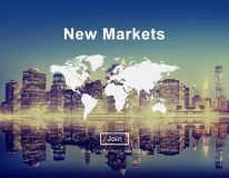 New Markets Commerce Selling Global Business Marketing Concept Royalty Free Stock Photo
