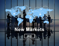 New Markets Commerce Selling Global Business Marketing Concept royalty free stock photos