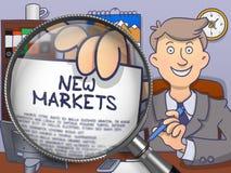 New Markets through Lens. Doodle Concept. Stock Photography