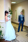 New married couple Royalty Free Stock Photo