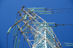 New mast of power lines Royalty Free Stock Image