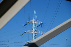 New mast of power lines Stock Photos