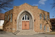 The New Mayfair Bible Church. This is a Winter picture of the New Mayfair aBible Church located in the Irving Park neighborhood of Chicago, Illinois.  The odd Stock Photo