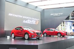 New Mazda 3 on display Royalty Free Stock Photos