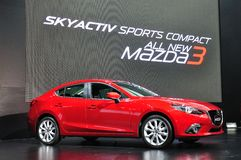 New Mazda 3 on display Royalty Free Stock Photography