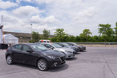 New Mazda 3 skyactive Royalty Free Stock Photos