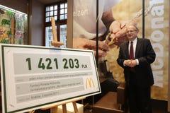 New McDonald`s at Grodzka Street, Cracow. KRAKOW, POLAND - JANUARY 03, 2017, Opening Ceremony McDonald`s at Grodzka Street, Old Town, Cracow Royalty Free Stock Photography
